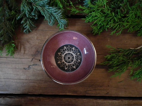 Raspberry Mandala Trinket Dish