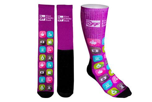Women's Full Color Crew Promo Socks with