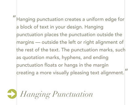 Hang that Punctuation