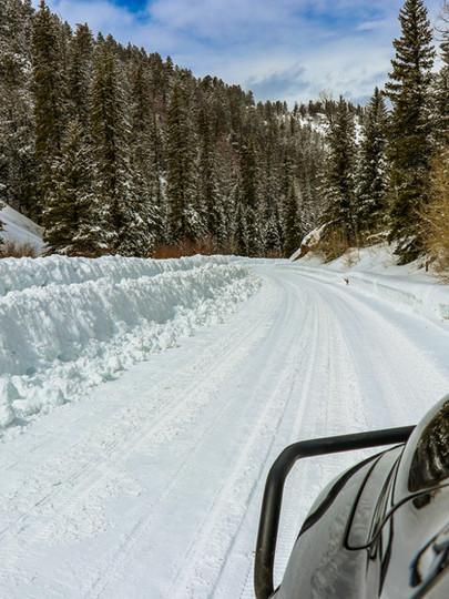 Plowed Alpine Plateau Rd