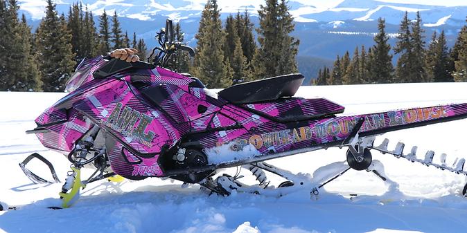 Jess AML Pink Plad Princess on the Alpine Plateau Arrowhead in Gunnison Country