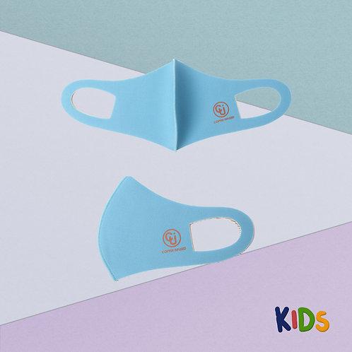 Cubrebocas para niño tejido de cobre (Azul)