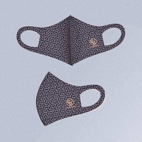 Cubrebocas tejido de cobre (Negro trensa)