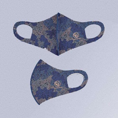 Cubrebocas tejido de cobre (Azul militar)
