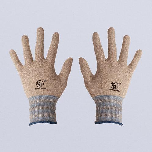 Guantes con tejido de cobre (Beige azul)