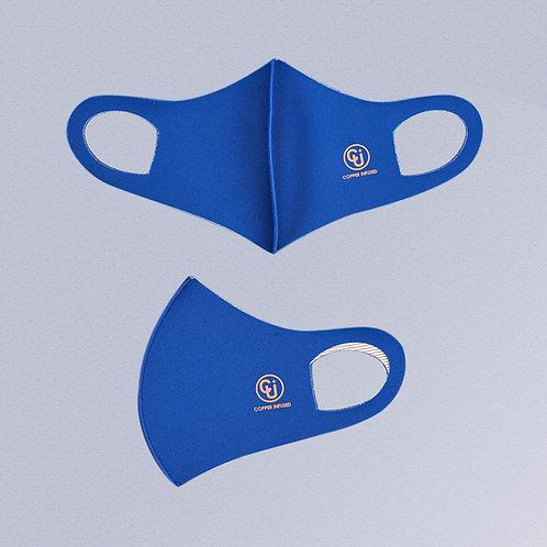 Cubrebocas tejido de cobre (Azul rey)