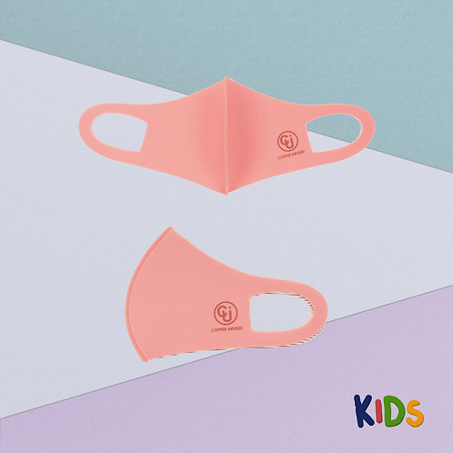 Cubrebocas para niño tejido de cobre (Rosa)