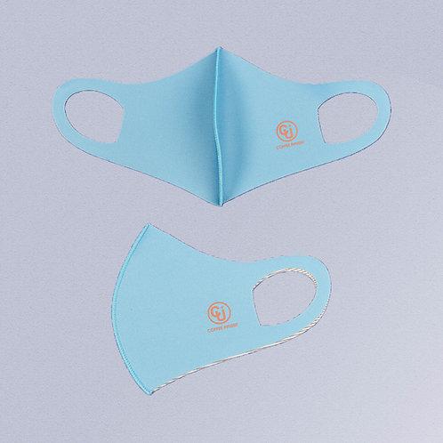 Cubrebocas tejido de cobre (Azul cielo)