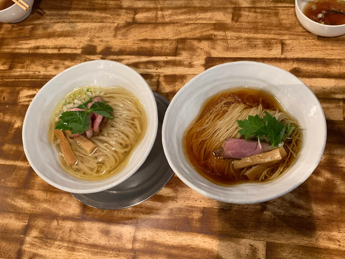 Shio Ramen and Shoyu Ramen