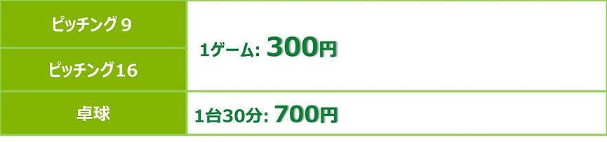 長崎県大村市協和町にある大村バッティングドームの料金の画像です。