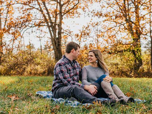 Amanda and Garrett - Fall Engagement Session