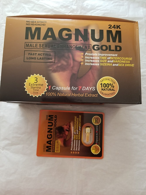Magnum Gold 24 pills 100% Natural Herbal Extract