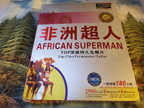 African Superman large box 6 small boxes 48 pills