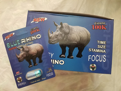 Blue Rhino 24 pills,  Time Size stamina