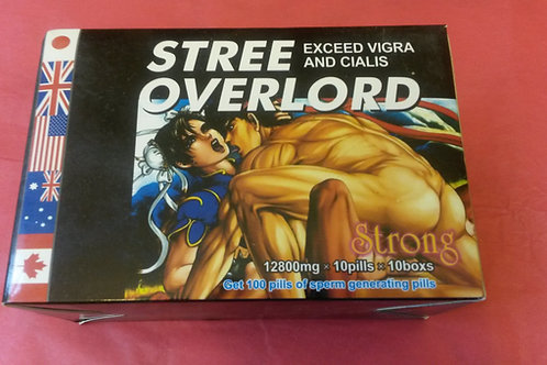 Stree Overlord one Big Box 10 Small cans inside 100 pills
