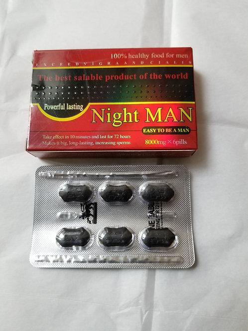 Night Man, 6 Pills Powerful Lasting