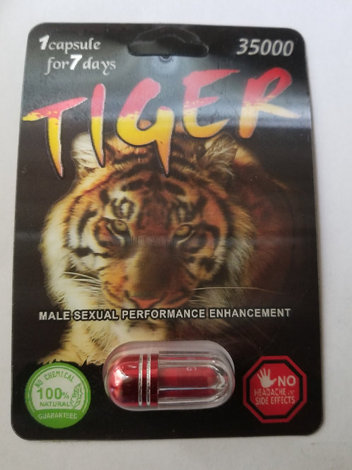 Tiger 1 pills, one pill for 7 days. male sexual performance