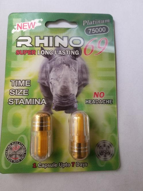 Rhino 69 Super long lasting 2 pills