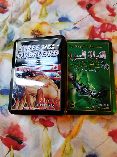 Stree Overlord 1 can 10 Pills, Black Ant 1 can 10 pills