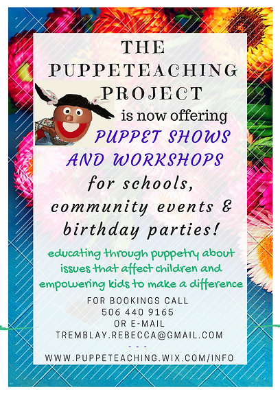 puppet shows for schools, events and birthday parties