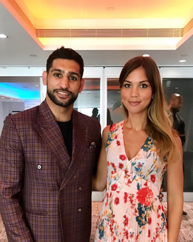 Influencer campaign - here with Boxer Amir Khan