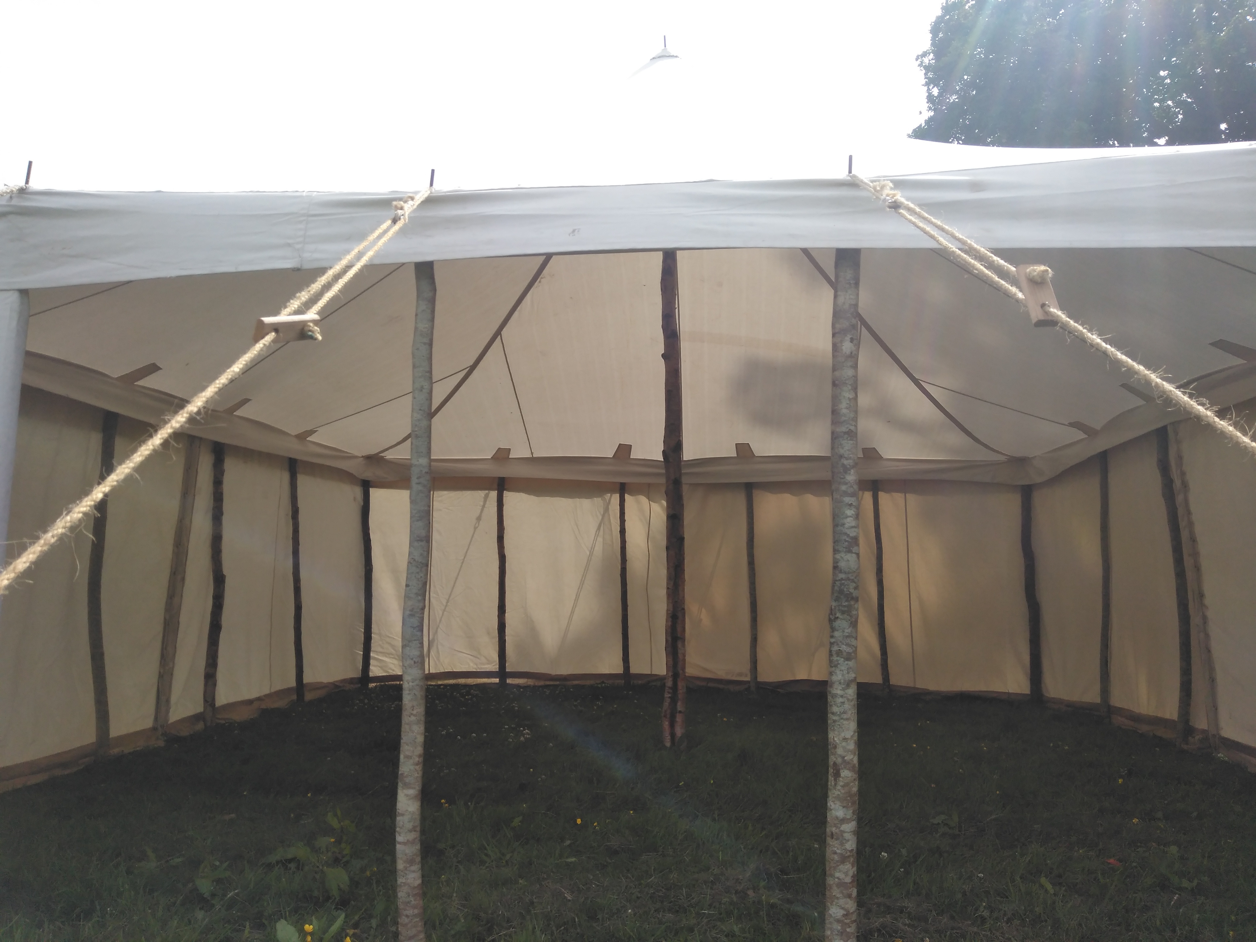 Marquee with walls