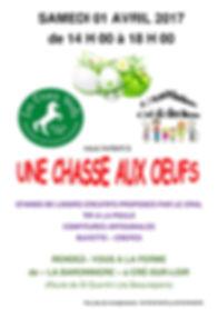 Chasse aux oeufs aux Crins Verts le 01 04 17