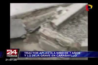Tractor Atropella y Deja Graves a Mamá e Hija