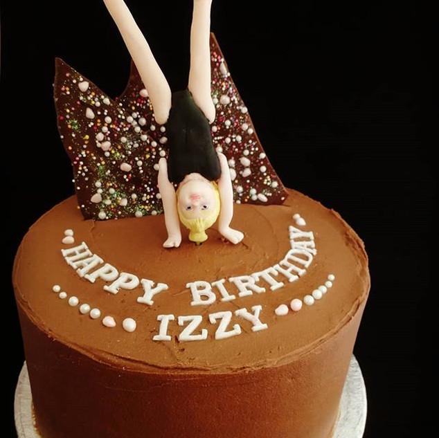 A celebration cake for a #gymnast with s