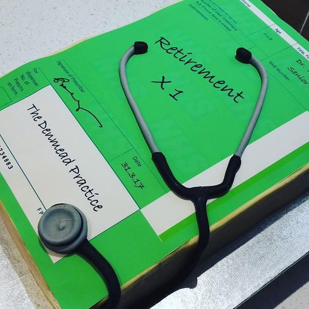Retirement cake for a Dr! #prescription