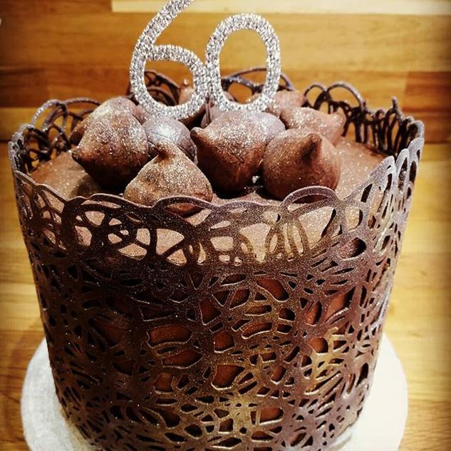 Rubis Chocolate Wine celebration cake! #