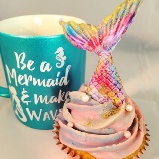 Mermaid Cupcakes! #boozybakers #mermaid