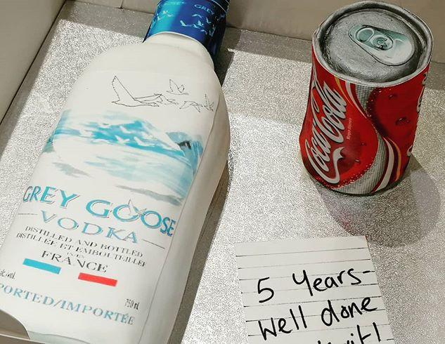 Do you like our vodka and coke cake_ Eve