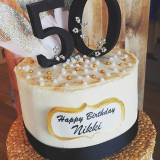Celebrating 50 in style! #birthdaycake #