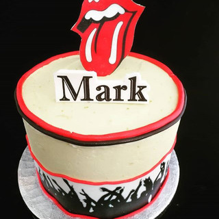 #rollingstones birthday cake! With a car