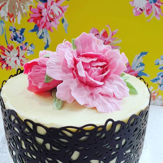 Delicious chocolate cake decorated with