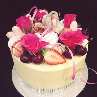 This is one of the prettiest cakes we ha