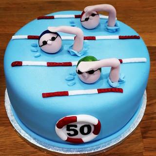 VEGAN Swimming Cake! #bespokecakes #swim