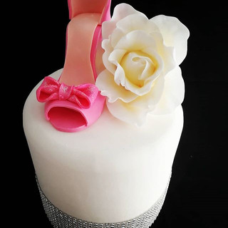 SHOES, BLOOMS AND DIAMONDS! Hand crafted
