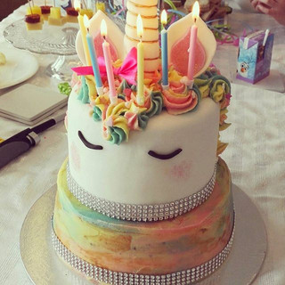 Two tier chocolate unicorn cake! #birthd