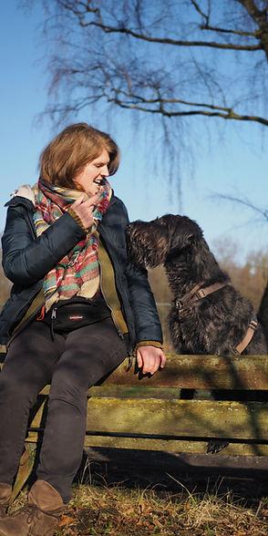 Riesenschnauzer Hund Hundeerzieherin