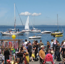 Life at Alki Beach: Pirates and Pole Vaulters - Aaaargh!!