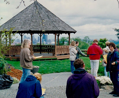 The Gazebo in the Arboretum at South Seattle College early 1990s