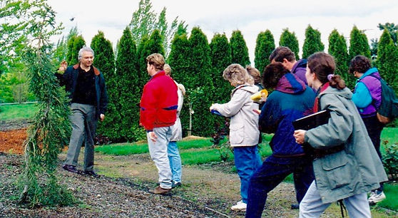Steve Nord teaching a plant ID class in early 1990s