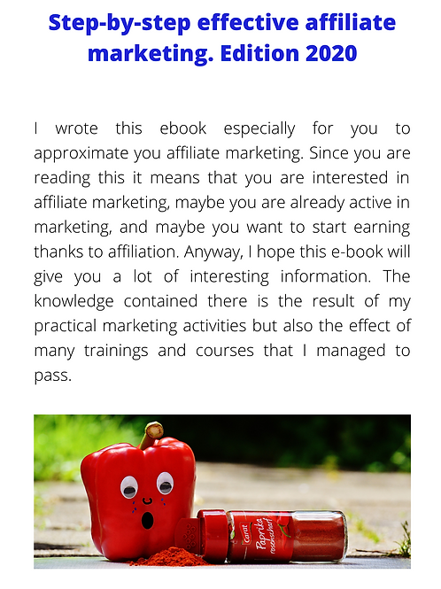 Step-by-step effective affiliate marketing. Edition 2020