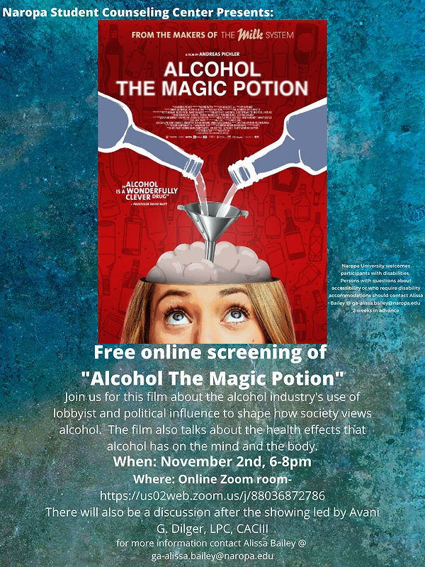 Alcohol the Magic Potion Fall 2020 Narop
