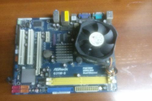 Материнская плата ASRock G31M-S (socket  LGA 775)