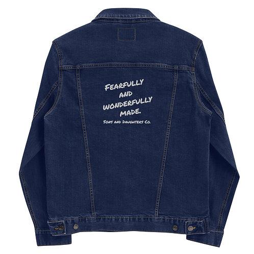 Fearfully and Wonderfully Made Unisex denim jacket