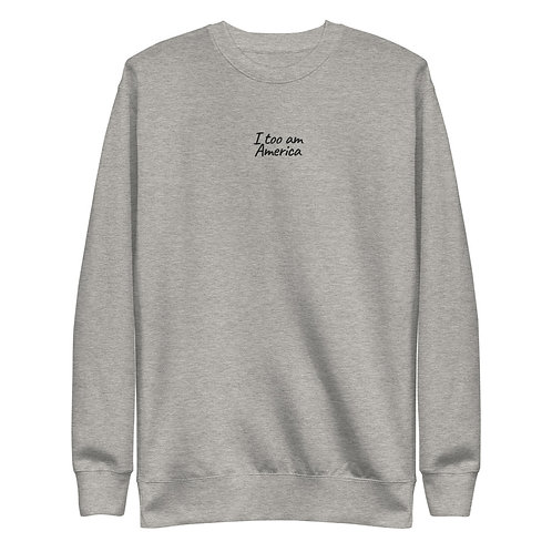 Embroidered I, Too Unisex Fleece Pullover