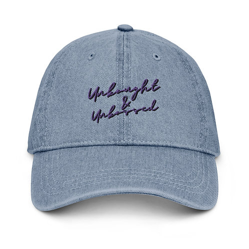 Unbought and Unbossed Denim Dad Hat